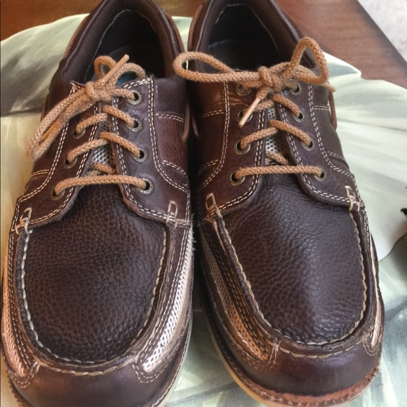 Bass Other - BASS MENS BROWN & TAN TIE UPS LOAFERS SIZE 10.5